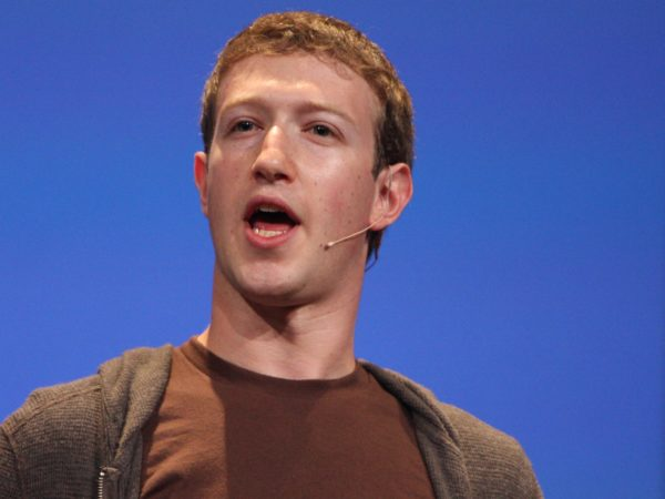 Image of Mark Zuckerberg making a keynote speech