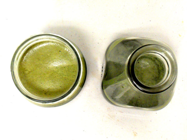 Bird's eye view of some chemicals in jars