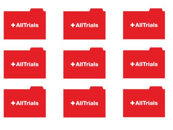 AllTrials logo repeated