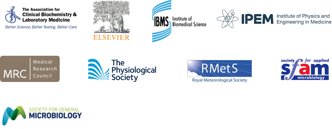 Standing up for Science 2 partner logos: The Association for Clinical Biochemistry and Laboratory Medicine, Elsevier, IBMS, IPEM, MRC, The Physiological Society, RMetS, Sfam, The Society for General Microbiology