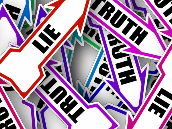 Arrows with 'Truth' and 'Lie'.