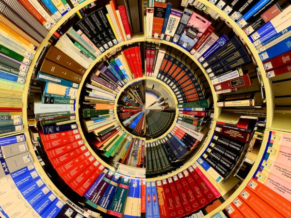 Circular library of books