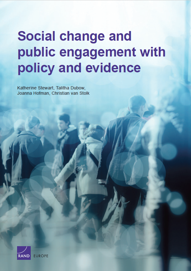 Social change and public engagement with policy and evidence.