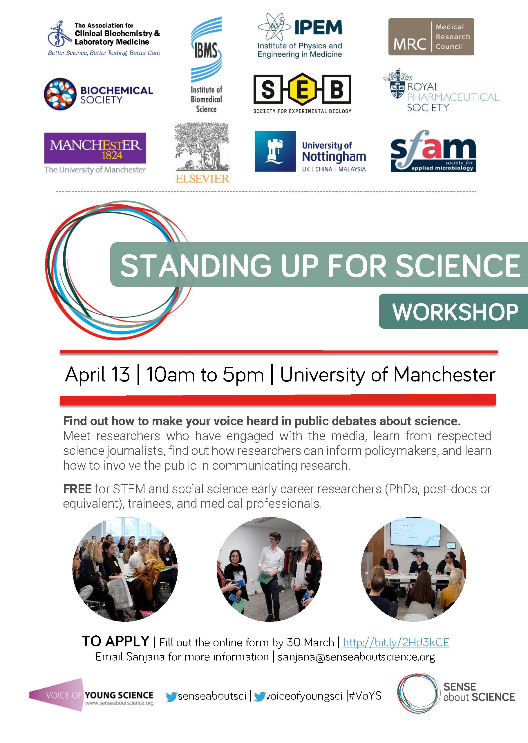 VoYS Manchester 2018 workshop flyer