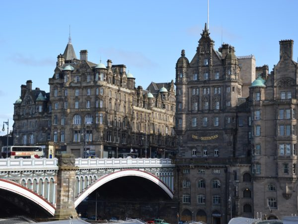 view over waverly bridge Edinburgh