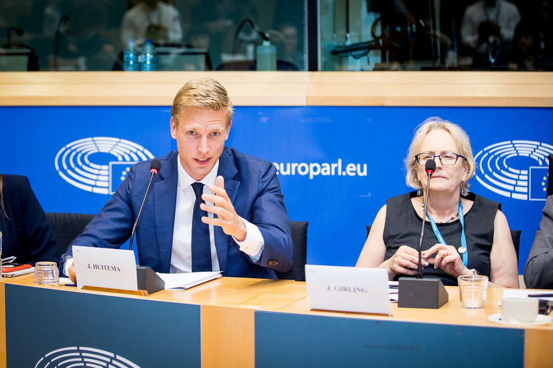 Jan Huitema, MEP and Julie Girling MEP