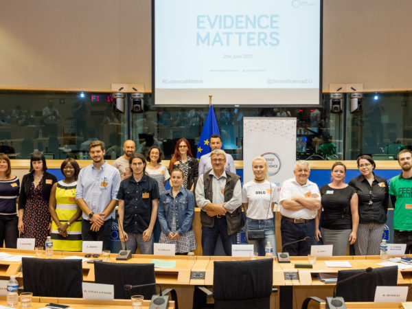 16 citizen speakers in the EU parliament at Evidence Matters