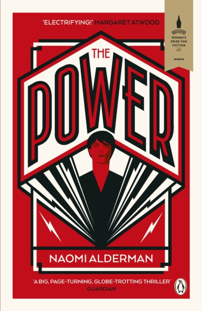 the power Naomi Alderman with graphic propaganda style cover in red